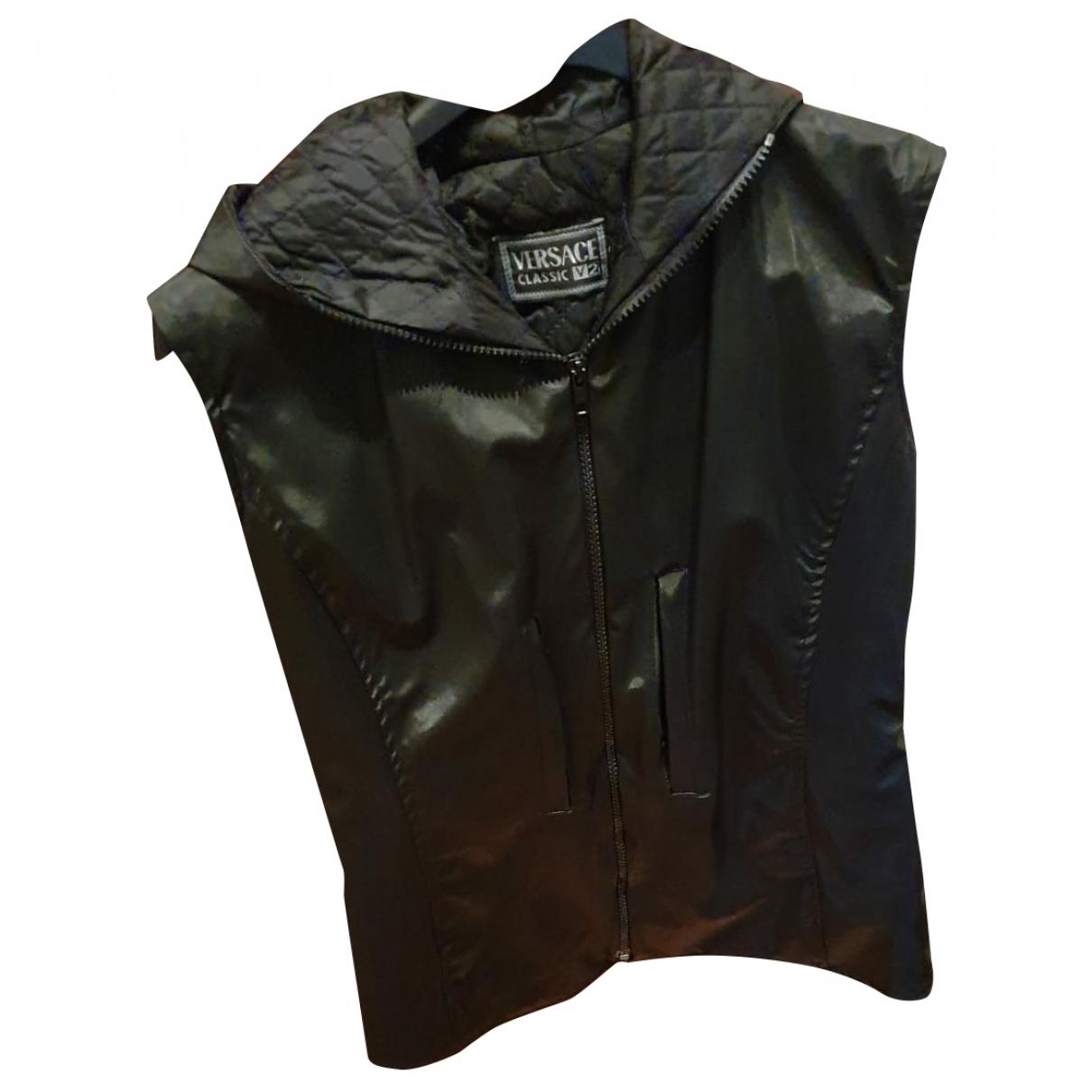 Versace \N Jacke in  Schwarz Polyester