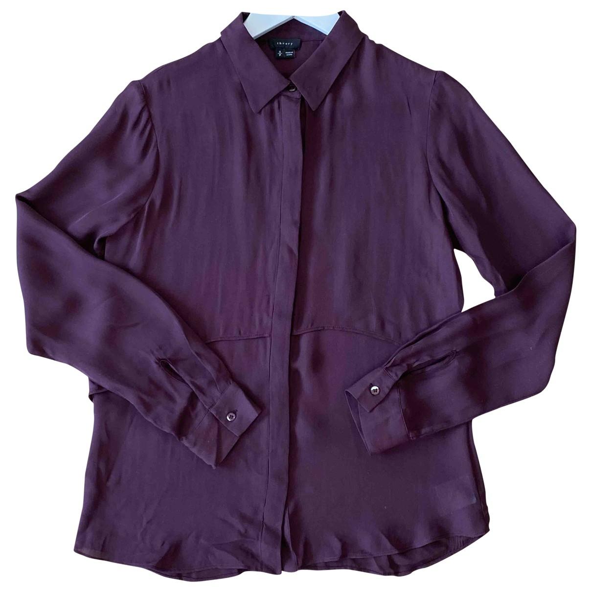 Theory \N Burgundy Silk  top for Women S International
