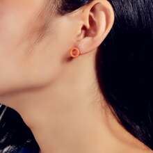 Hollow Out Round Stud Earrings