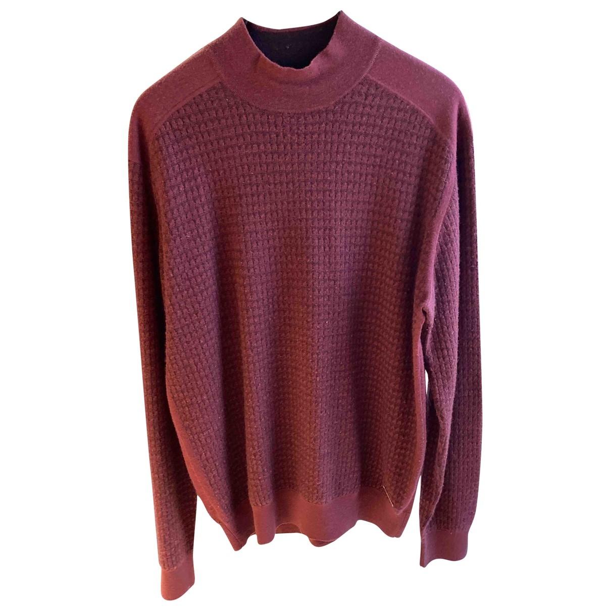 Stefano Ricci \N Pullover.Westen.Sweatshirts  in  Bordeauxrot Kaschmir