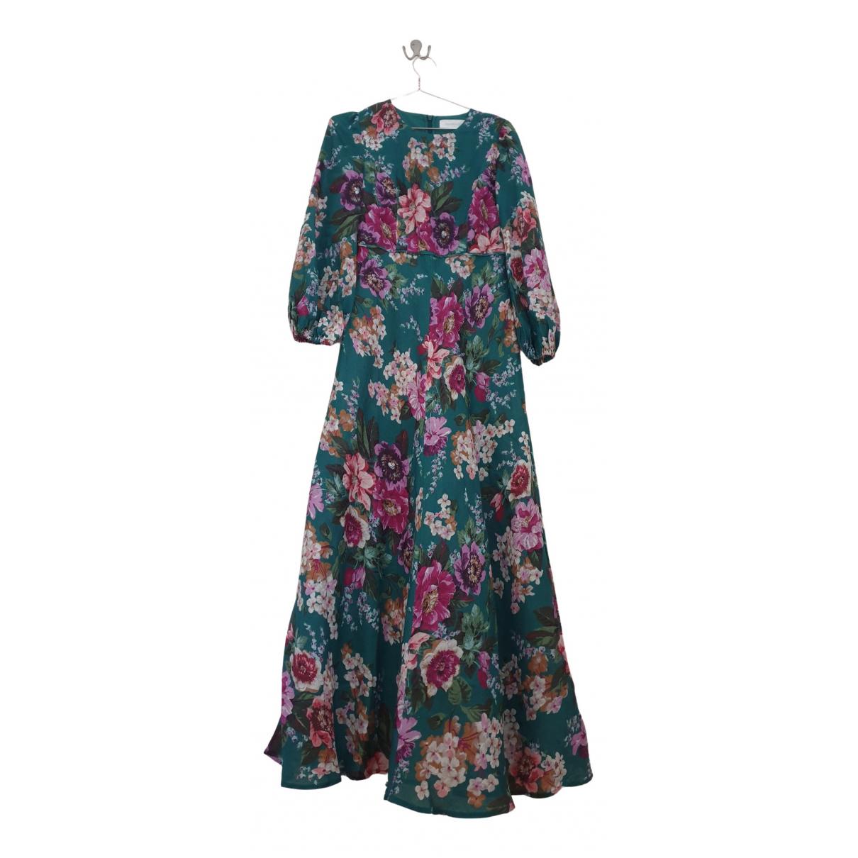 Zimmermann \N Kleid in  Gruen Leinen