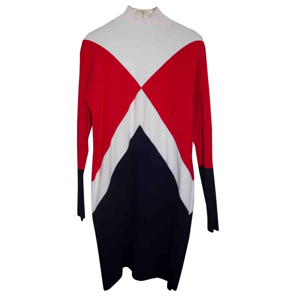Gigi Hadid X Tommy Hilfiger \N Kleid in  Rot Baumwolle - Elasthan