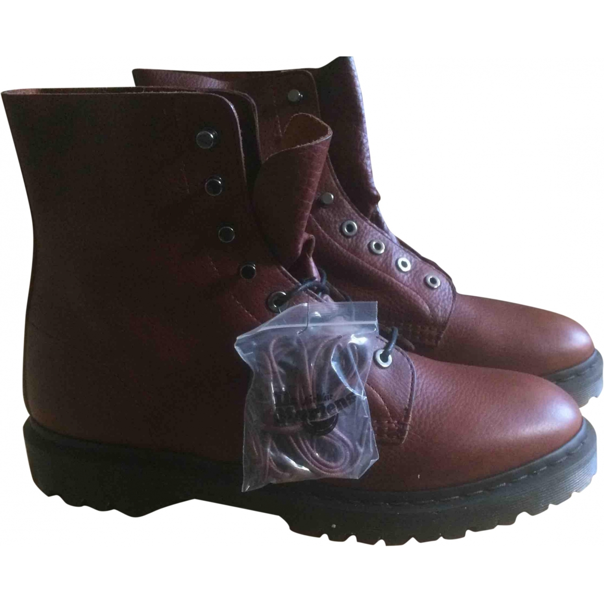 Dr. Martens \N Burgundy Leather Boots for Men 45 EU