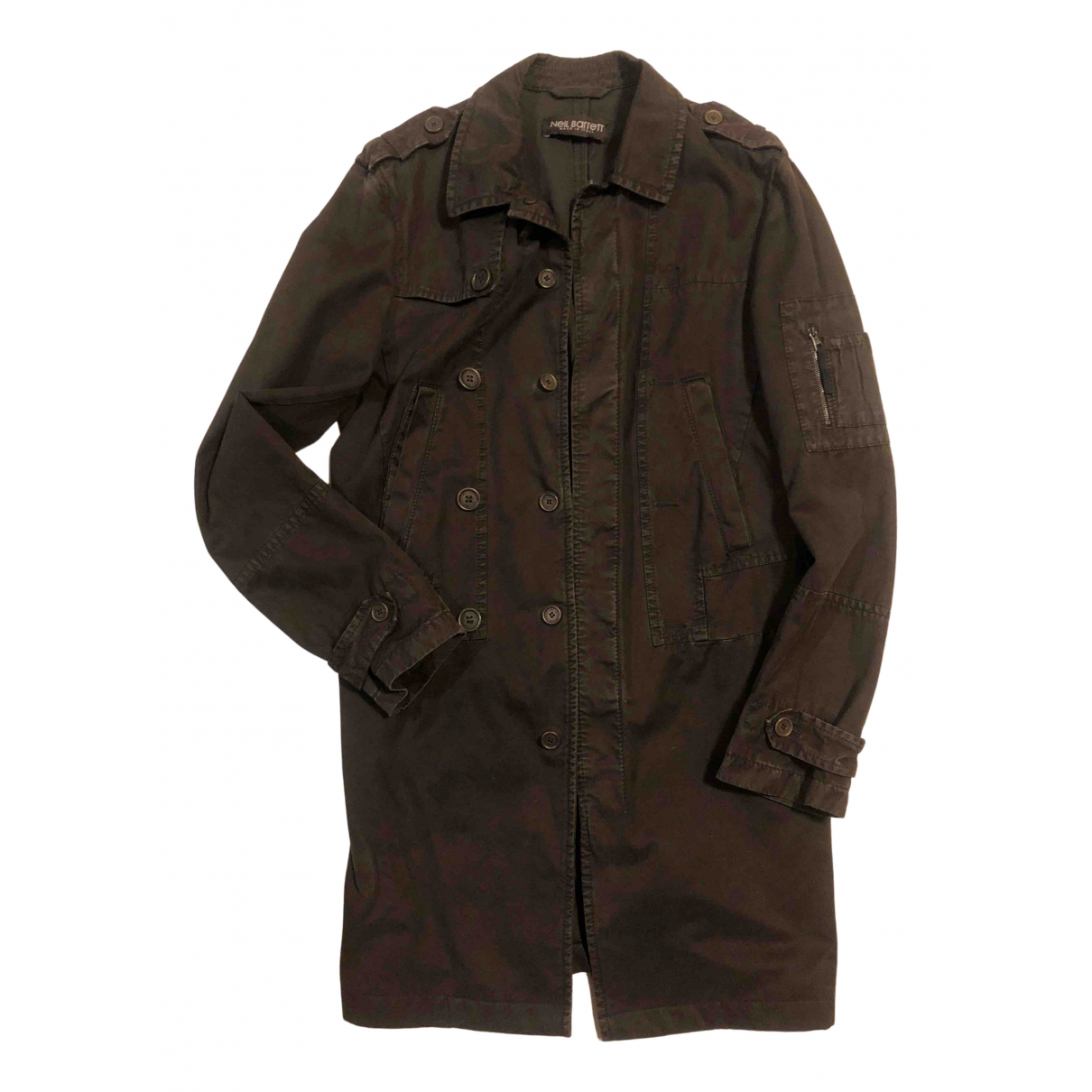 Neil Barrett - Manteau   pour homme en coton - marron