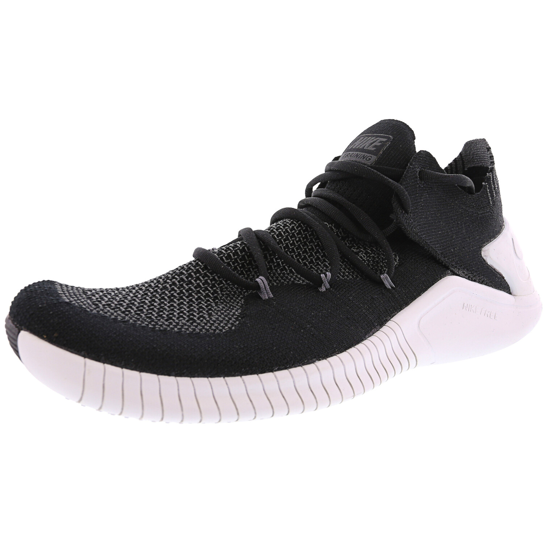 Nike Women's Free Tr Flyknit 3 Training Shoe - 8M - Black / White / Wolf Grey