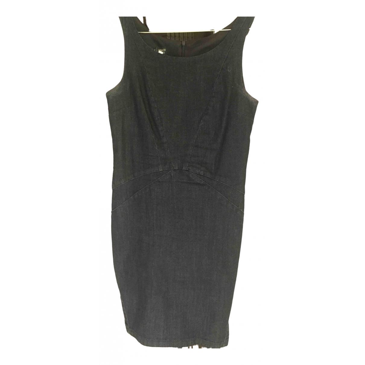 Armani Jeans \N Kleid in  Blau Baumwolle - Elasthan