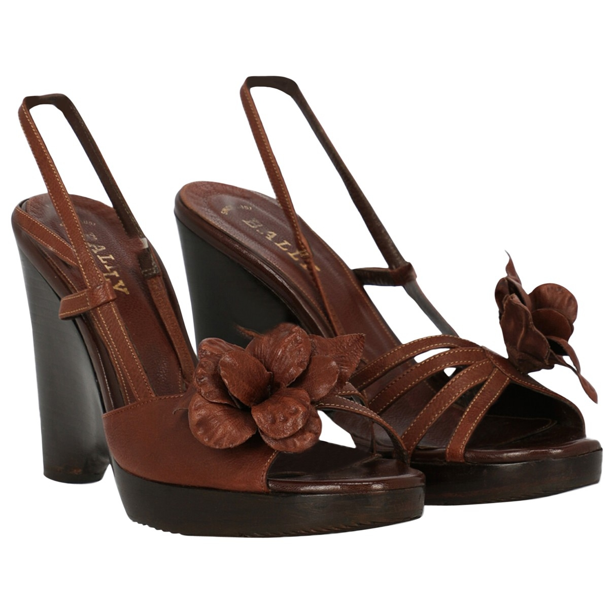 Bally \N Brown Leather Sandals for Women 40 IT