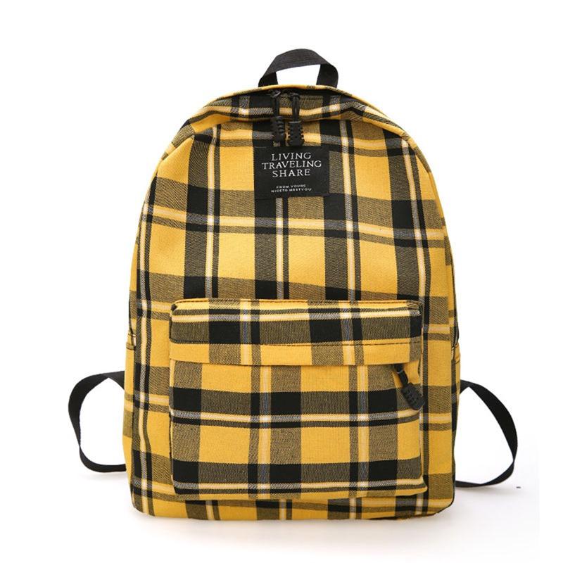Ericdress Thread Plaid Canvas Backpacks