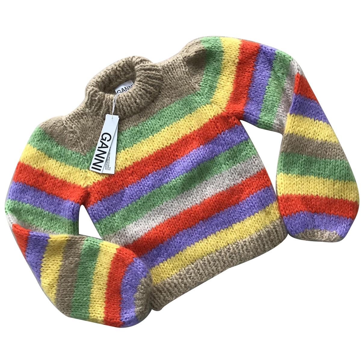 Ganni Spring Summer 2020 Pullover in  Bunt Wolle