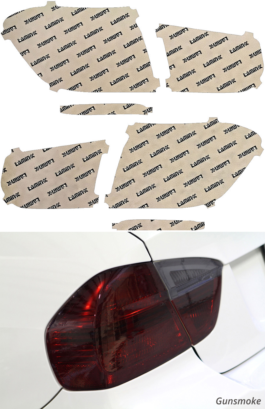 BMW 3-Series 328 | 330 Sedan 16-18 Gunsmoke Tail Light Covers Lamin-X B260G