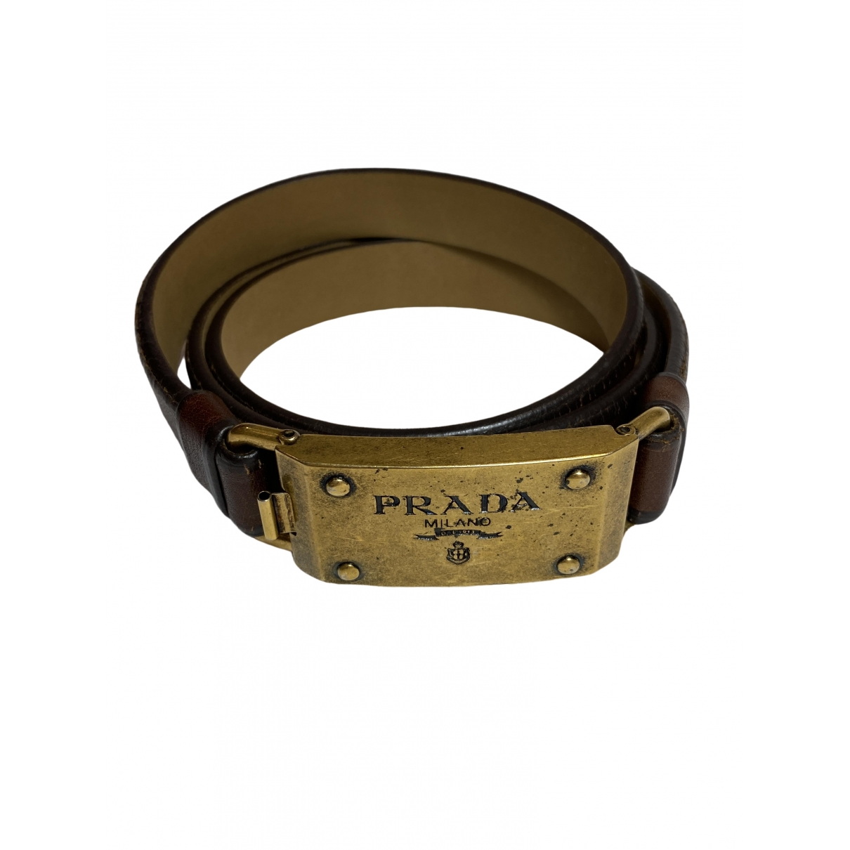 Prada \N Brown Leather belt for Women 35 Inches