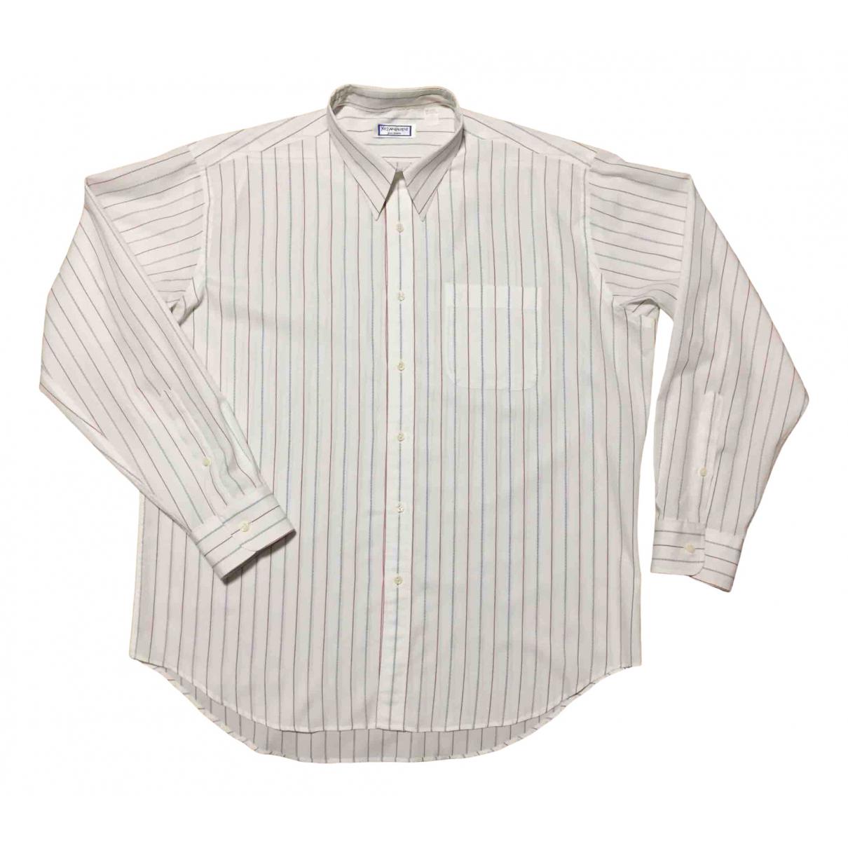 Yves Saint Laurent - Chemises   pour homme en coton - blanc