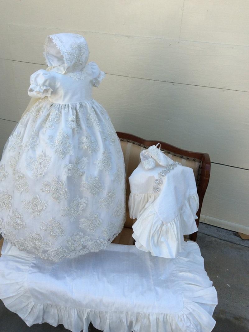 Ericdress Short Sleeves Appliques Baby Girl's Christening Dress