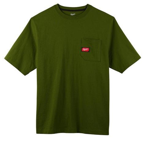 Milwaukee Heavy Duty Pocket T-Shirt - Short Sleeve - Green 2X