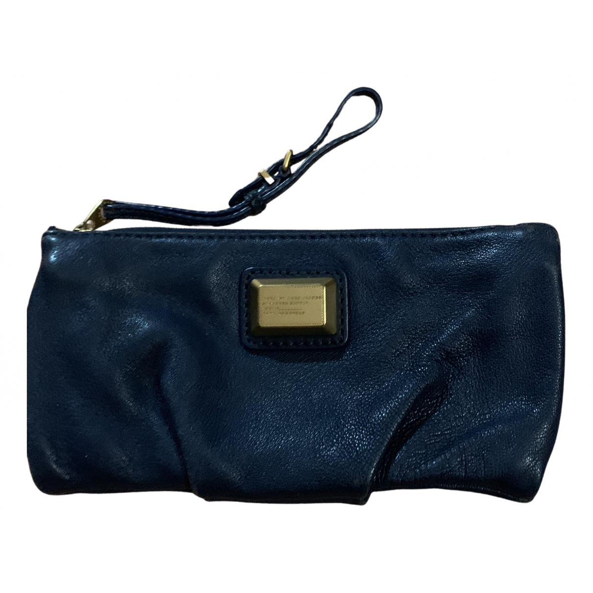 Marc By Marc Jacobs \N Clutch in  Blau Leder