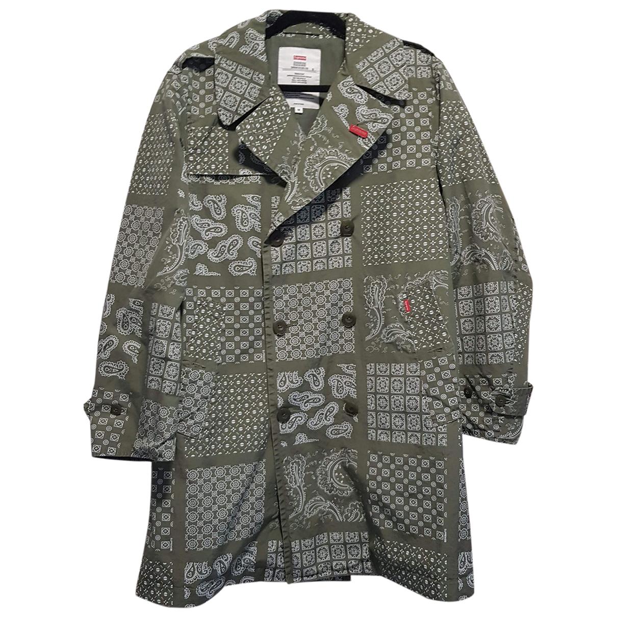 Supreme - Manteau   pour homme en coton - kaki