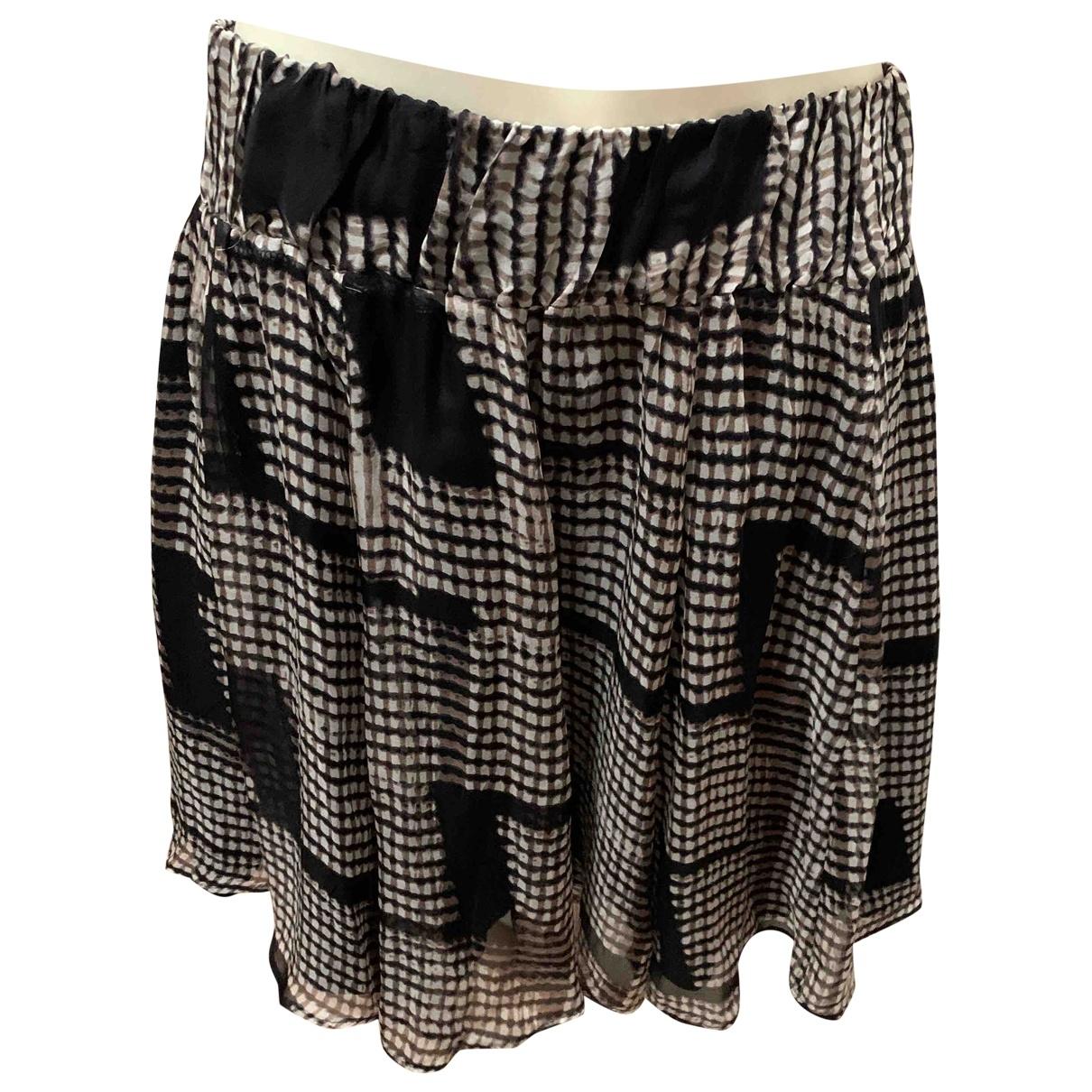 Falda midi de Seda Zara