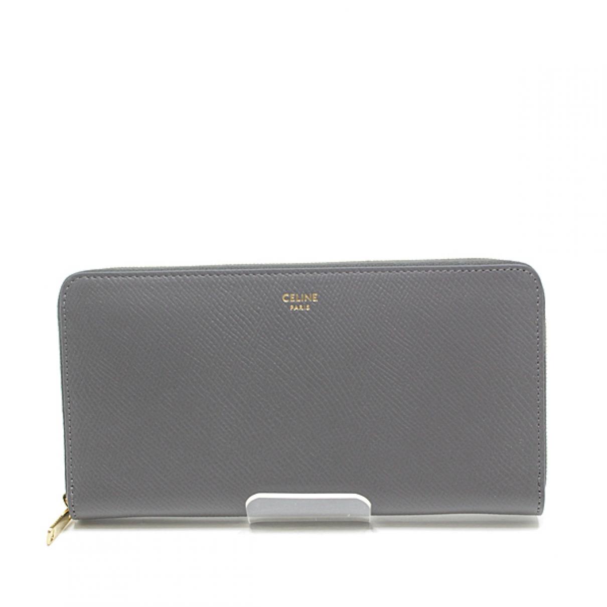 Celine \N Grey Leather wallet for Women \N