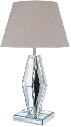 Britt Collection 40122 16 Table Lamp with LED Light Bulb  Rocker Switch Type  Light Brown Barrel Shade  Diamond Shaped Base and Metal Frame in
