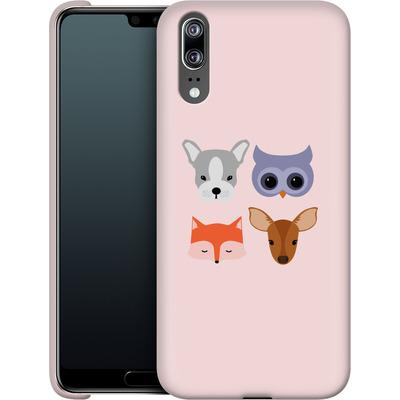 Huawei P20 Smartphone Huelle - Animal Friends on Pink von caseable Designs