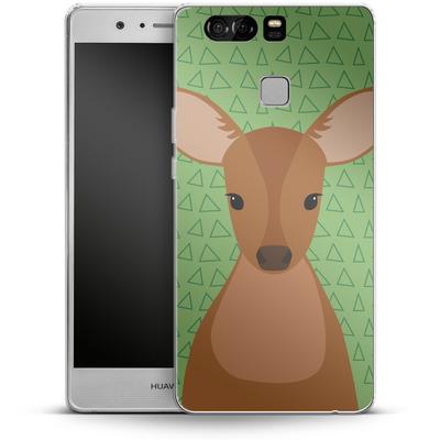 Huawei P9 Silikon Handyhuelle - Deer on Green von caseable Designs