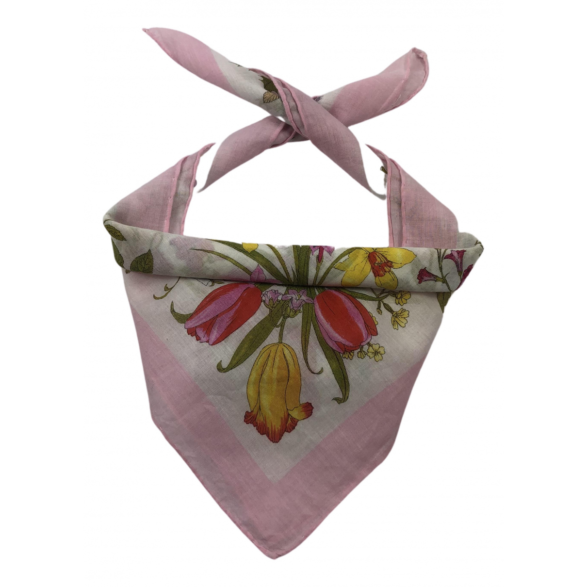 Gucci N Pink Cotton Silk handkerchief for Women N