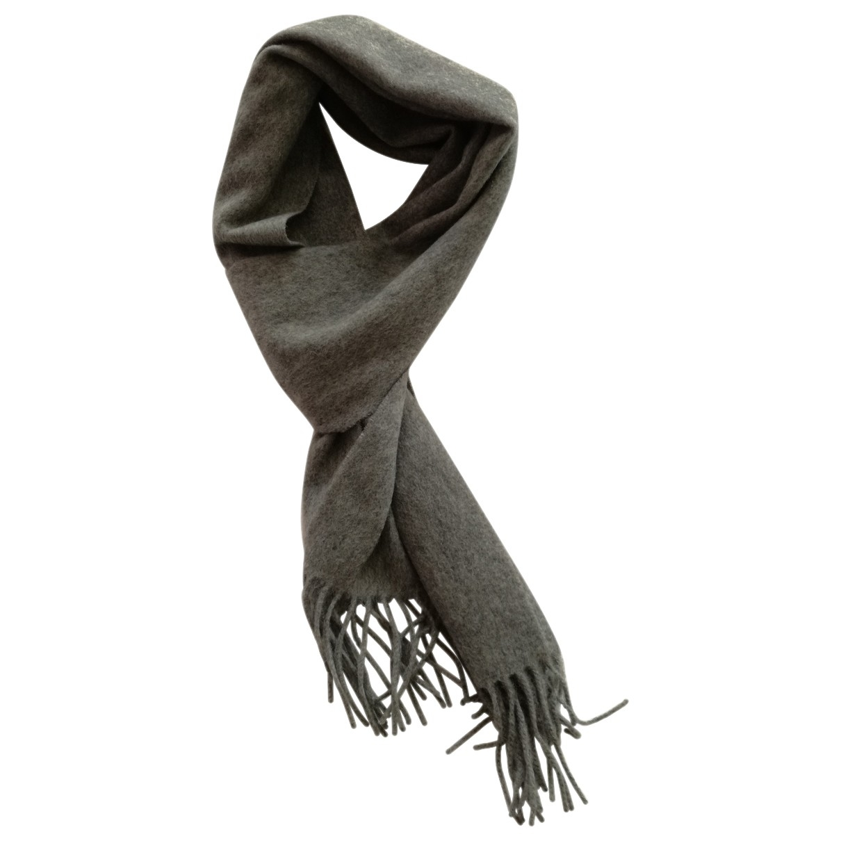 Non Signé / Unsigned \N Grey Cashmere scarf & pocket squares for Men \N