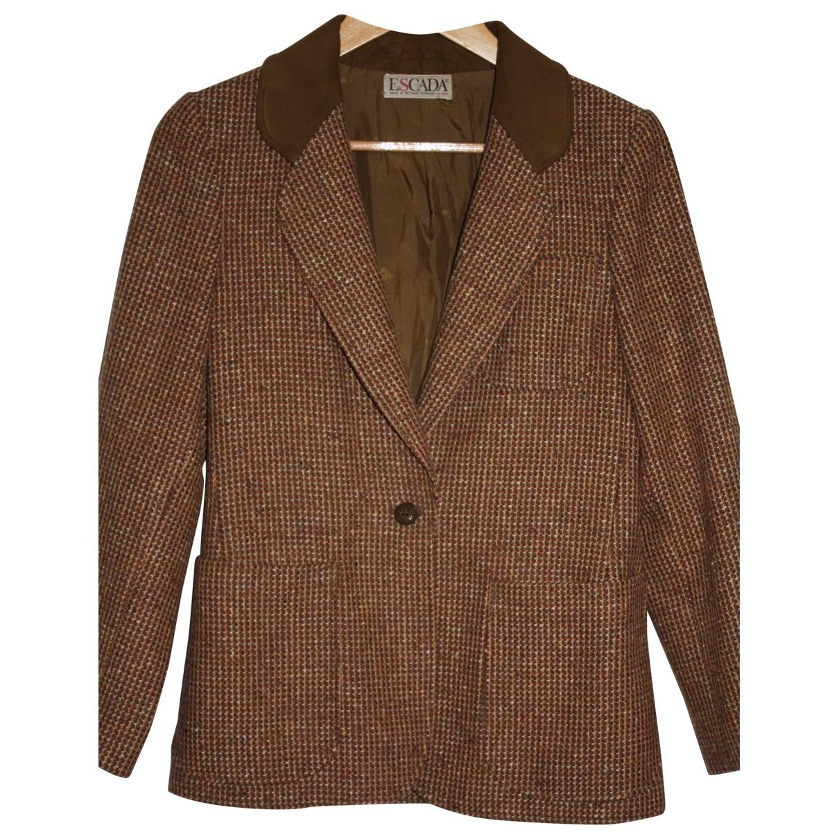 Escada - Veste   pour femme en laine - marron