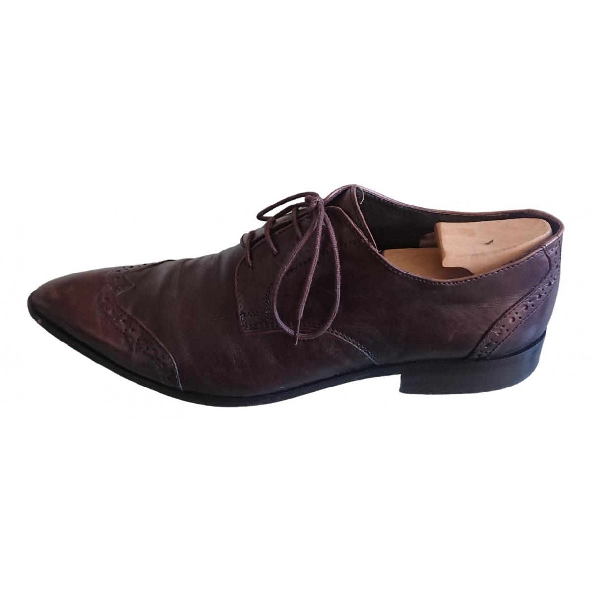 Balmain \N Brown Leather Lace ups for Men 44 EU