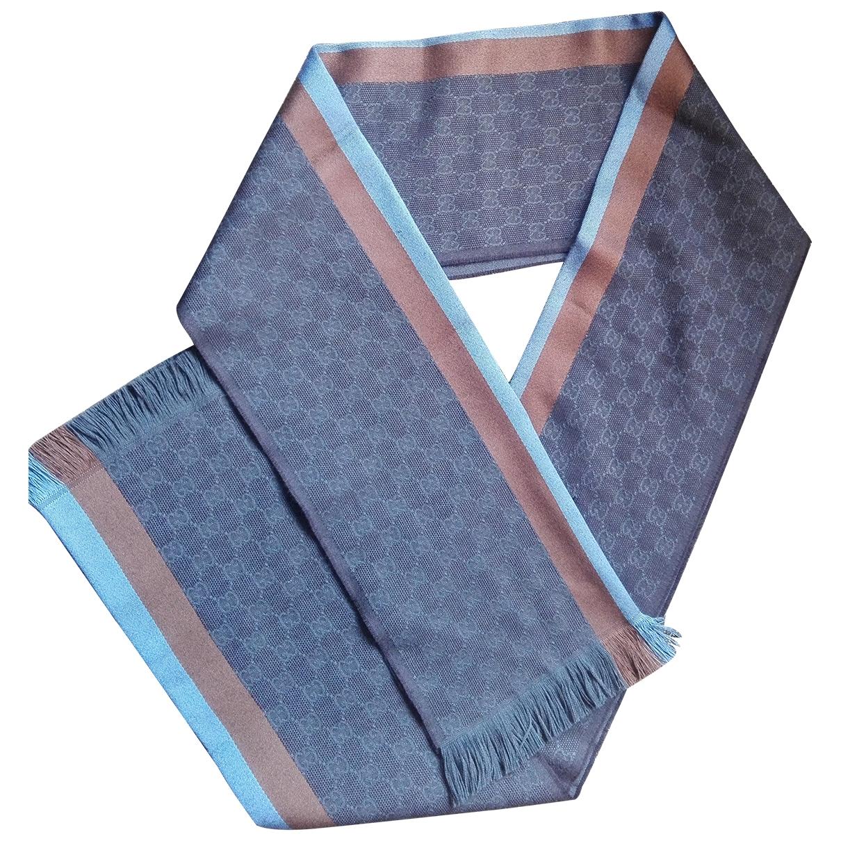 Gucci - Cheches.Echarpes   pour homme en laine - bleu
