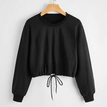 Drawstring Hem Sweatshirt