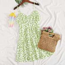 Floral Print Ruched Bust Sundress