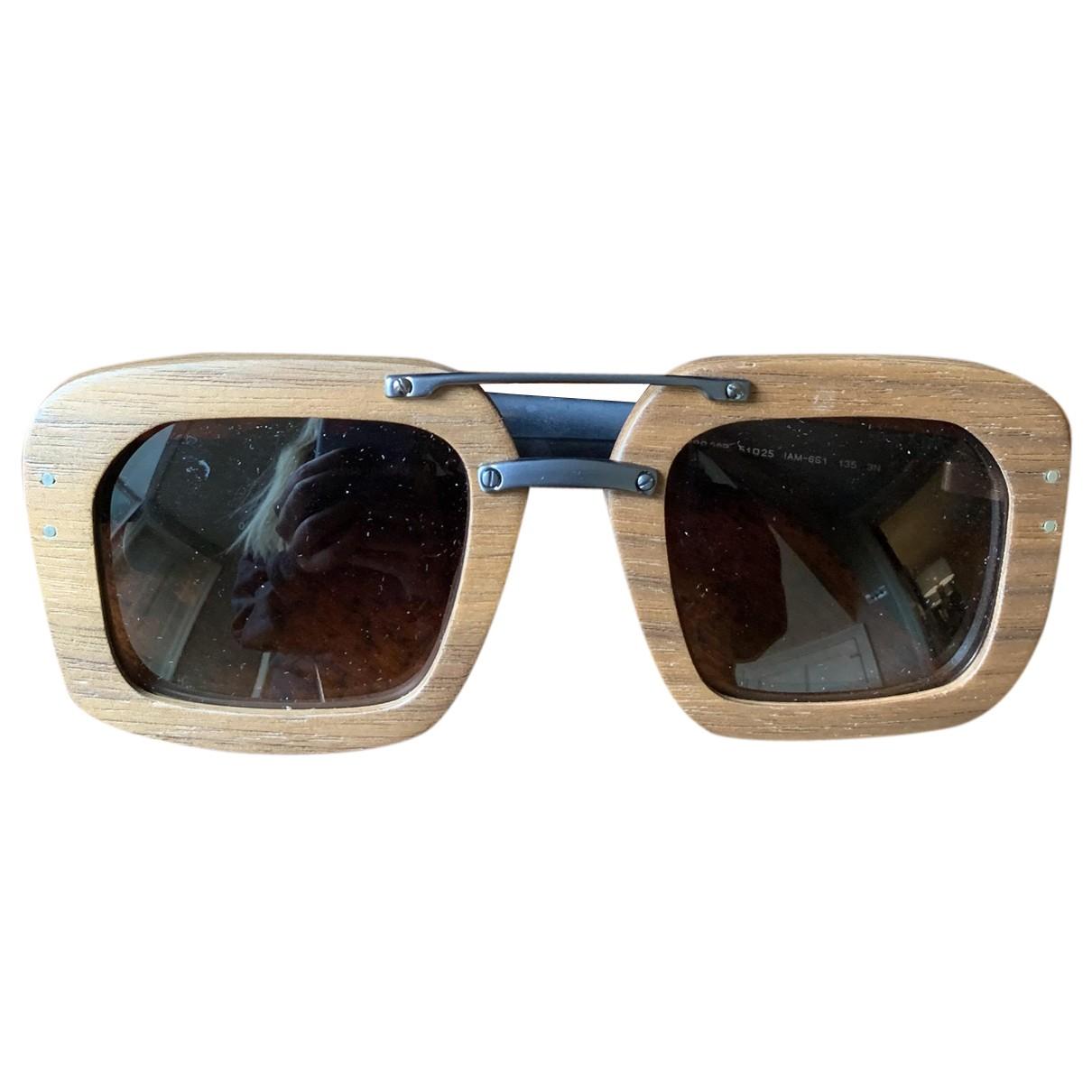 Prada N Brown Wood Sunglasses for Women N