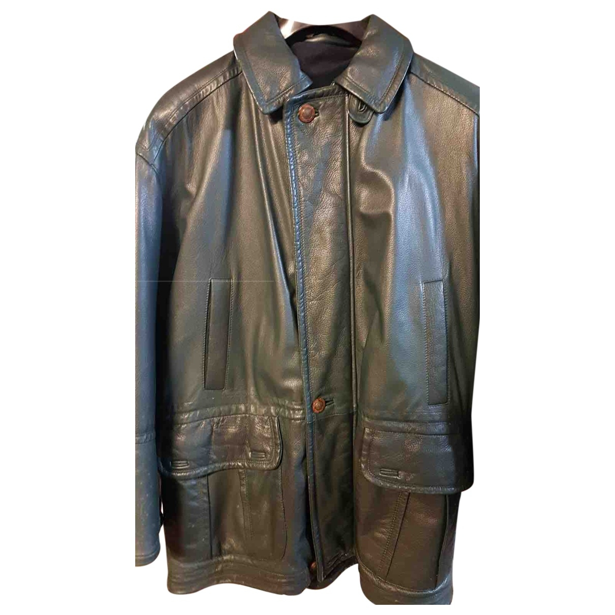 Yves Saint Laurent \N Green Leather jacket  for Men L