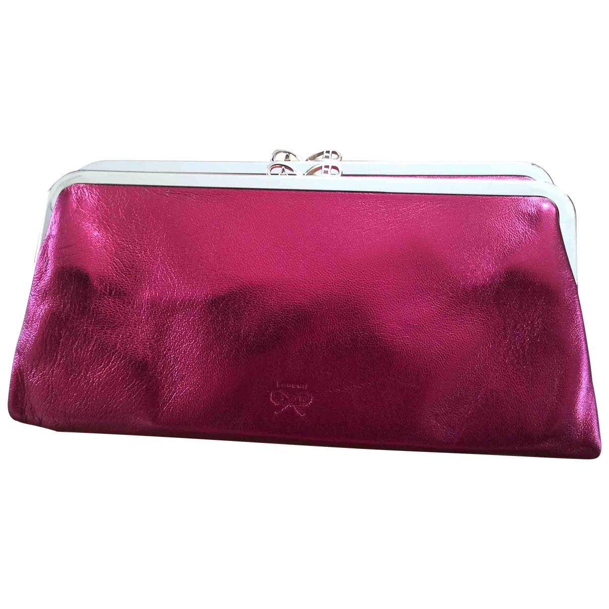 Anya Hindmarch N Burgundy Leather Clutch bag for Women N