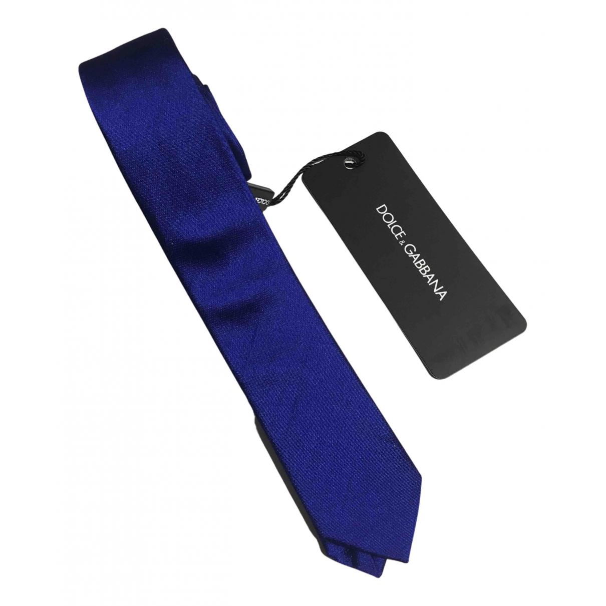 Dolce & Gabbana \N Krawatten in  Blau Seide