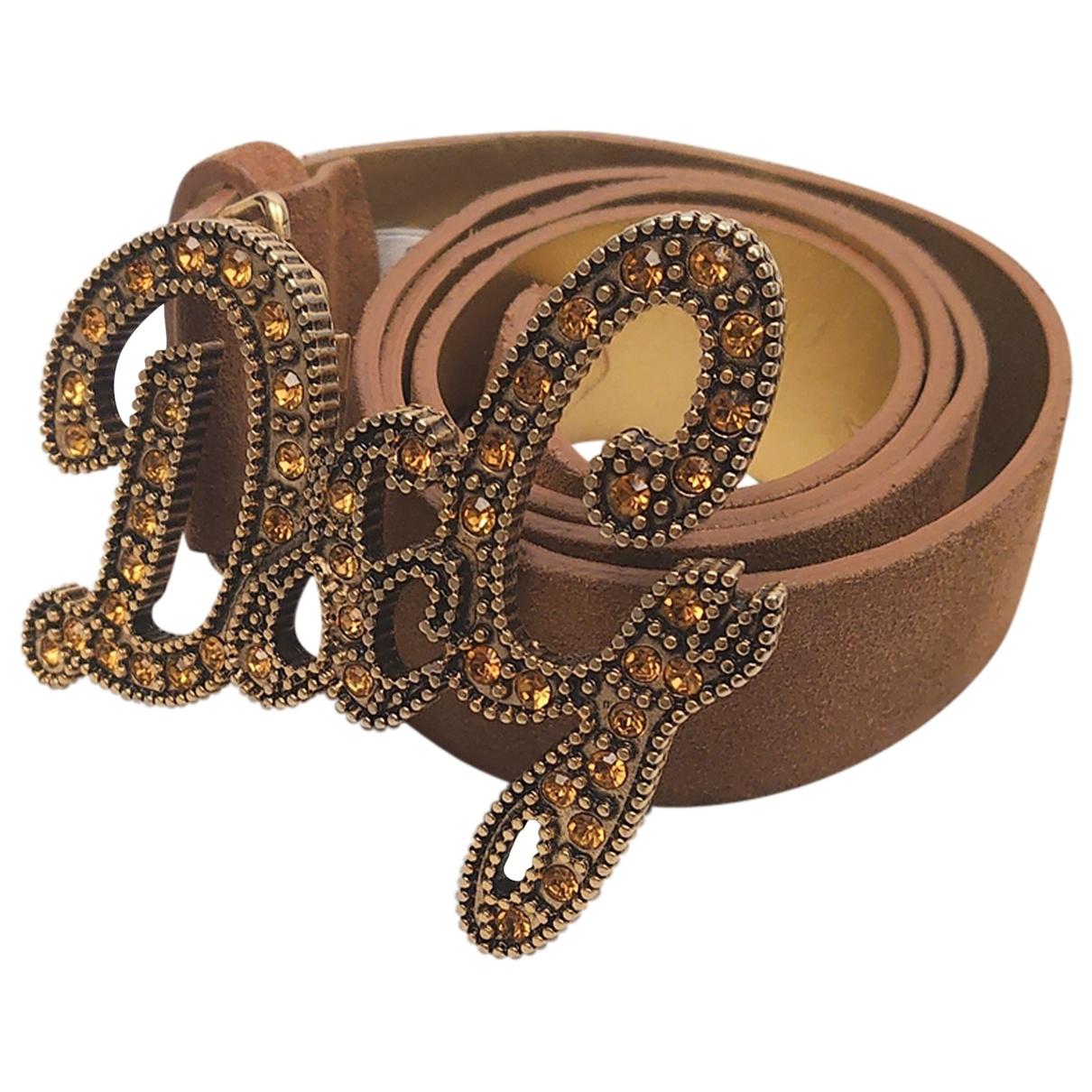Dolce & Gabbana \N Brown Suede belt for Women 85 cm