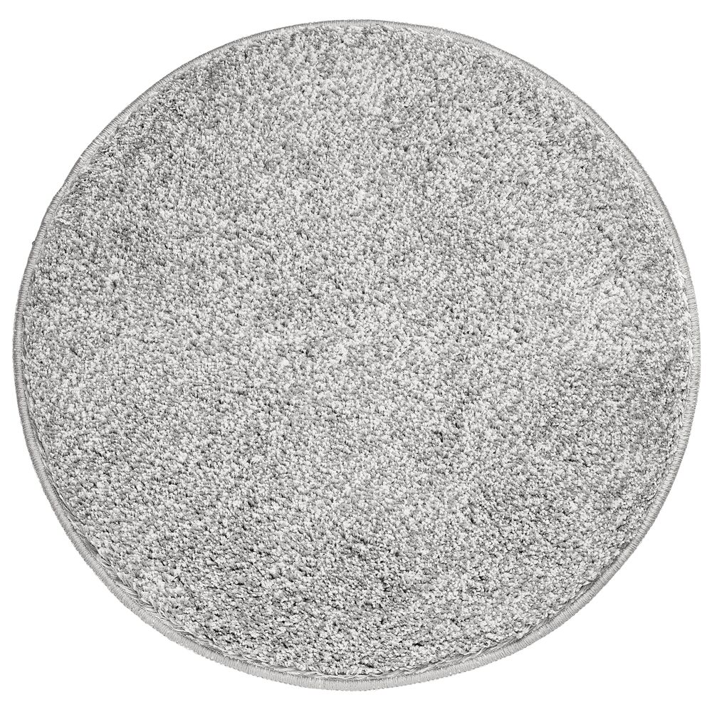 Microfiber Round Bathroom Rug - 24 Diameter in Gray, 24 x 24, by mDesign