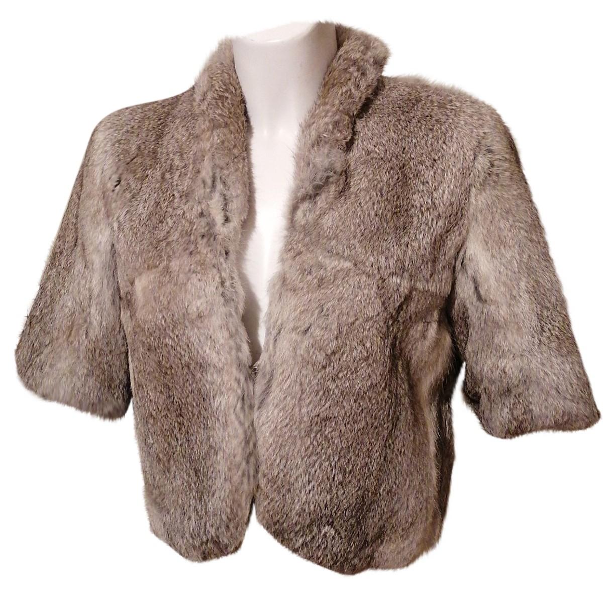 - Veste   pour femme en lapin - argente