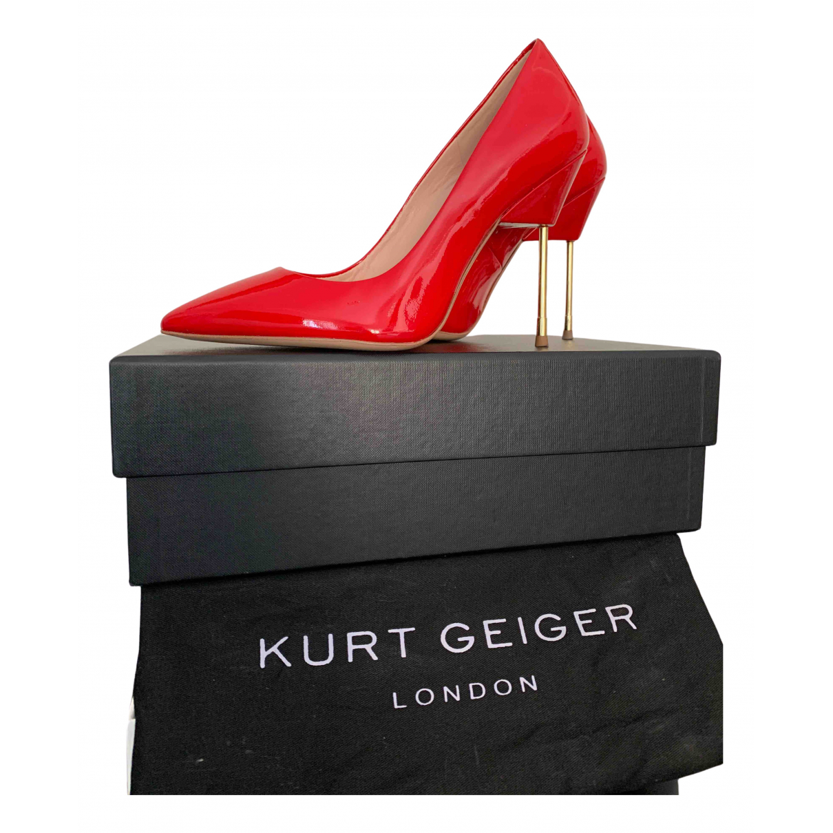 Kurt Geiger \N Pumps in  Rot Lackleder