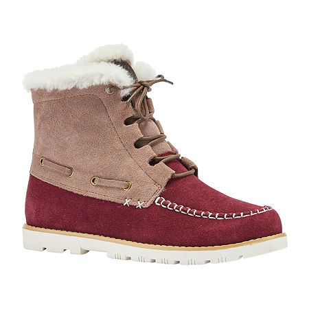 Lamo Womens Meru Winter Boots Flat Heel, 8 Medium, Red