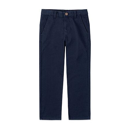 IZOD Little & Big Boys Flat Front Pant, 8 , Blue