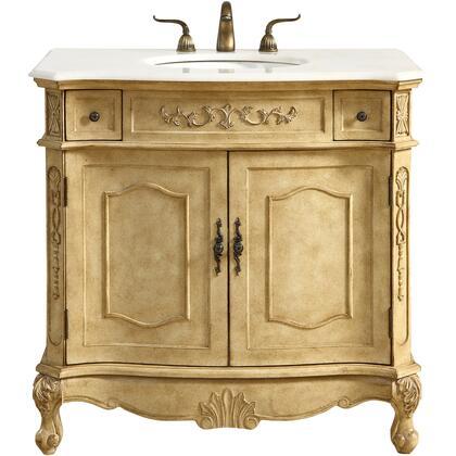 VF10136AB 36 Single Bathroom Vanity Set In Antique