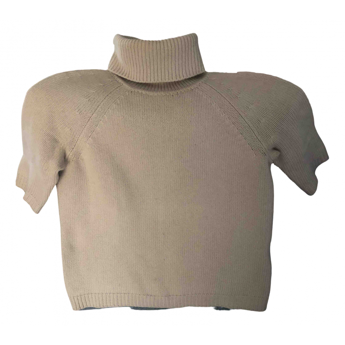 Max Mara s - Top   pour femme en laine - ecru