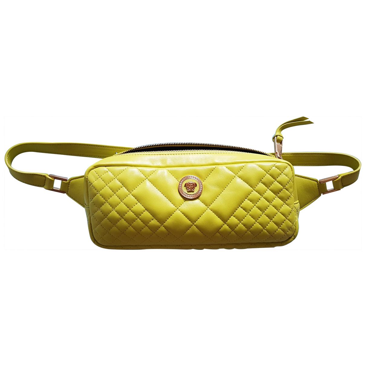 Versace \N Yellow Leather handbag for Women \N