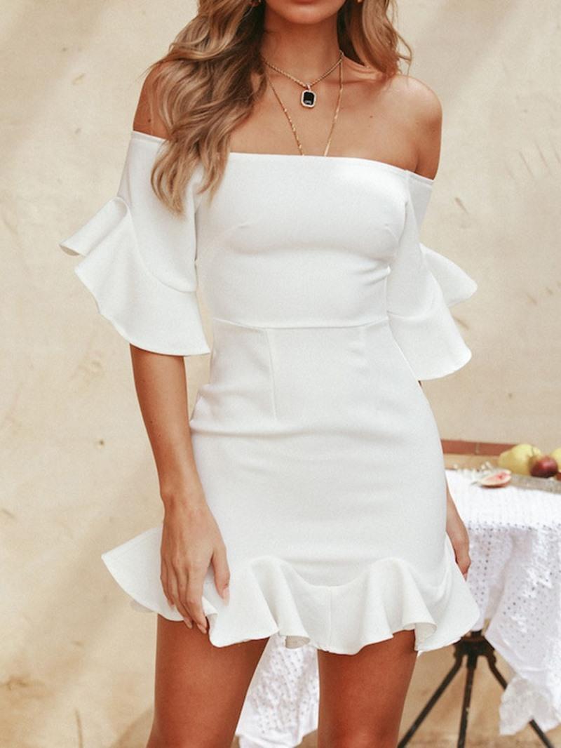 Ericdress Above Knee Half Sleeve Stringy Selvedge Pullover Summer Dress