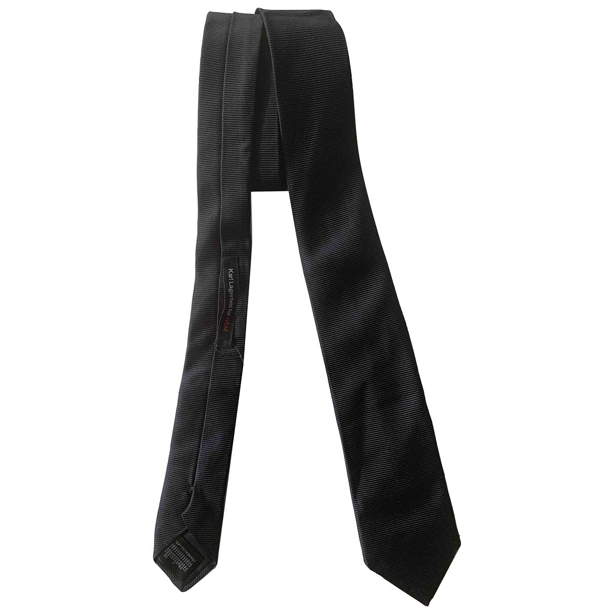 Karl Lagerfeld Pour H&m \N Krawatten in  Schwarz Seide