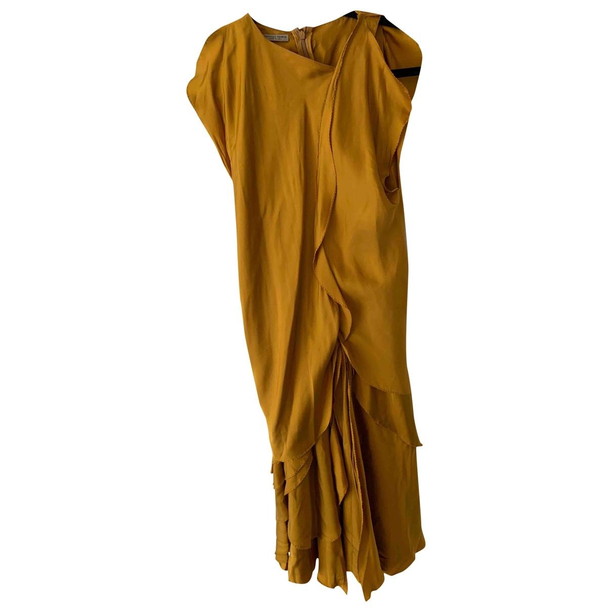 Bottega Veneta \N Yellow Silk dress for Women 38 IT