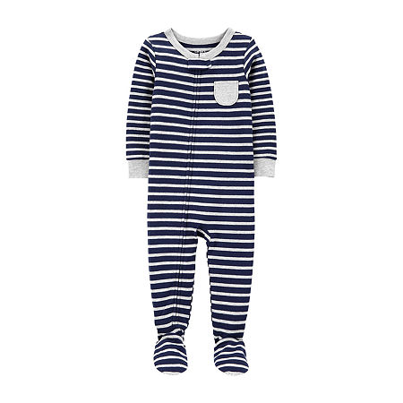 Carter's Toddler Boys Knit Long Sleeve One Piece Pajama, 3t , Blue