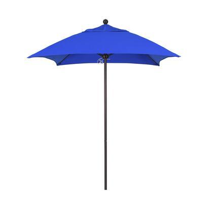ALTO604117-5401 6 Venture Series Commercial Patio Umbrella With Bronze Aluminum Pole Fiberglass Ribs Push Lift With Sunbrella 1A Pacific Blue